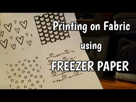 Printing on Fabric using Freezer Paper with FREE download - YouTube