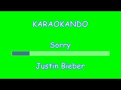 Karaoke Internazionale - Sorry - Justin Bieber ( Lyrics )