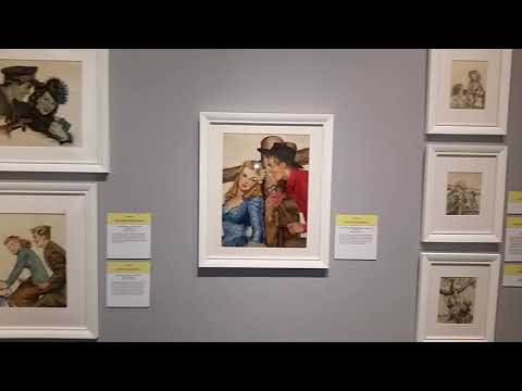 Gloria Stoll Karn: Pulp Romance exhibit at the Norman Rockwell Museum in Stockbridge MA. March 2018.