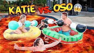 KATIE ANGEL VS OSO! La PISCINA ES LAVA!! 😱🔥TEAM ANGEL!! | OSO 🐻