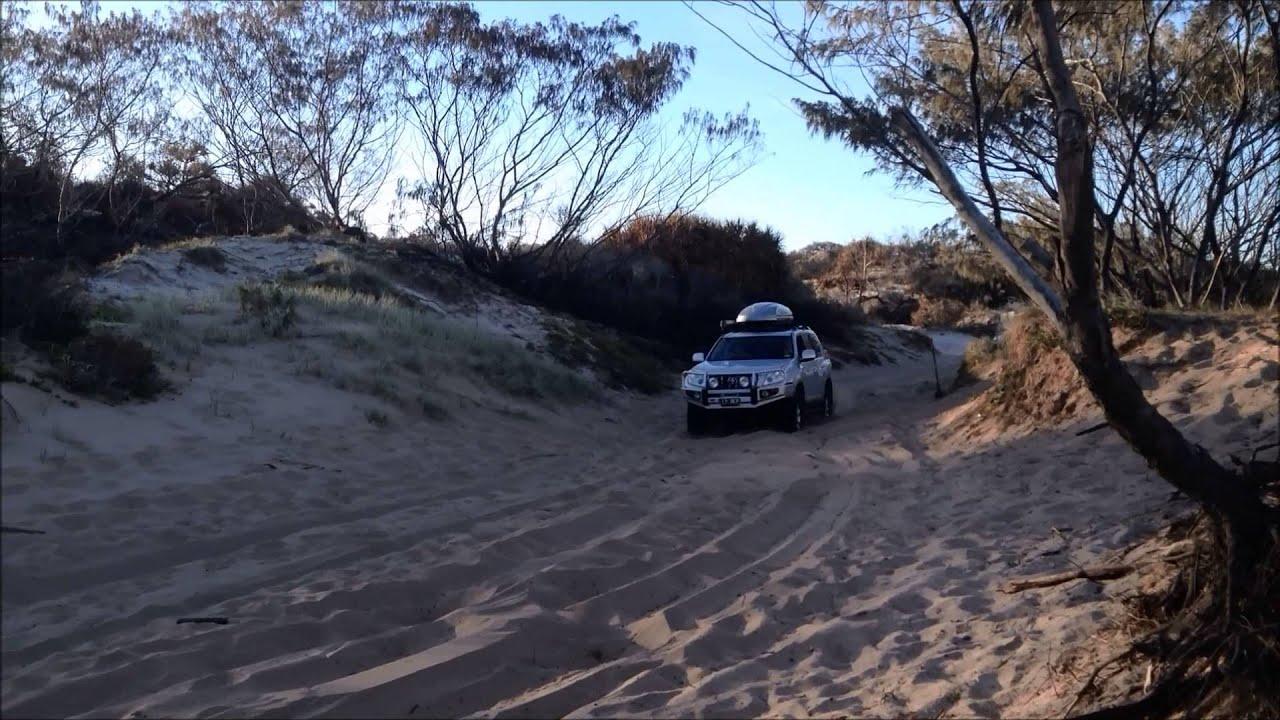 Fraser Island 4wd Bogged Towing Jetski Through Ngkala