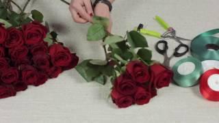 видео букет из 101 розы