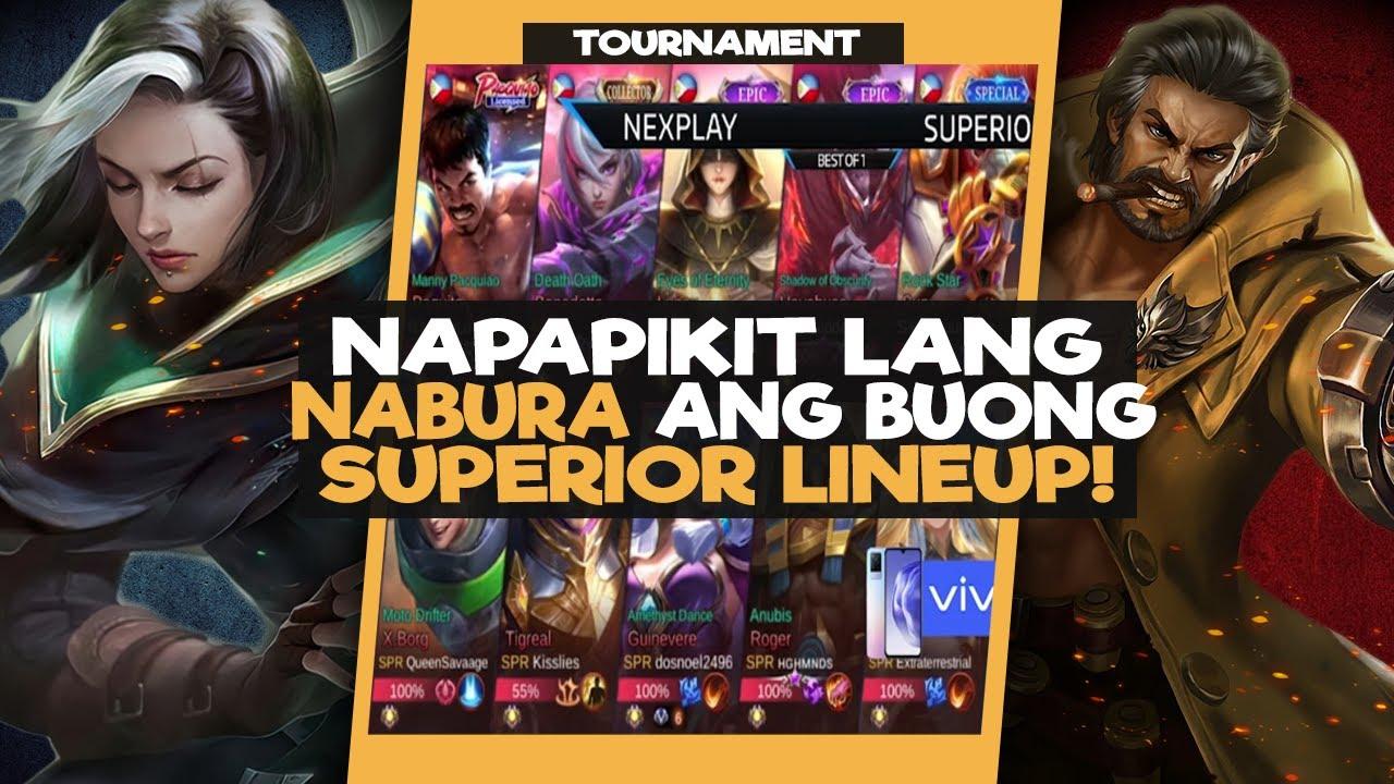 NAPAPIKIT LANG NABURA ANG BUONG SUPERIOR LINEUP | NEXPLAY VS SUPERIORS - VIVO TOURNAMENT