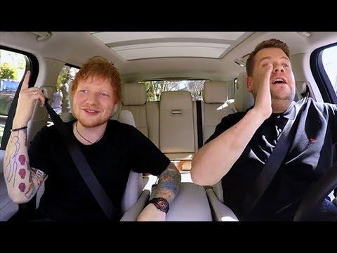 Ed Sheeran Sings 1D & Plays Chubby Bunny With Corden On Carpool Karaoke
