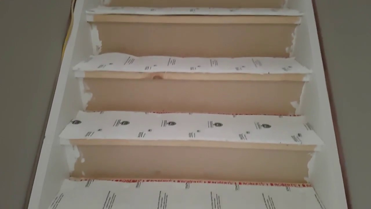 How To Install Carpet On Stairs Youtube | Individual Carpet Stair Treads | Bullnose Carpet | Wood | Hardwood | Flooring | Spiral Staircase