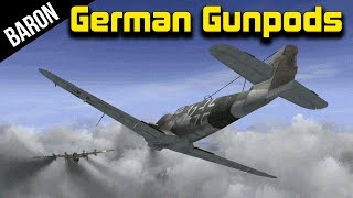 War Thunder German GUN PODS!