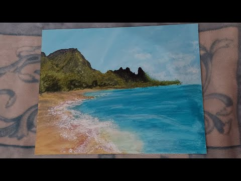 Scenery Acrylic Painting on Canvas / Beach / Coastal Painting