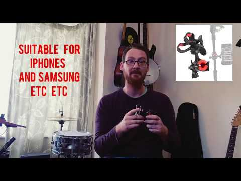 Mr Power Mic Stand Phone Holder Demo Review