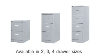 Grey Metal Filing Cabinets With Keys - DDC Office Furniture
