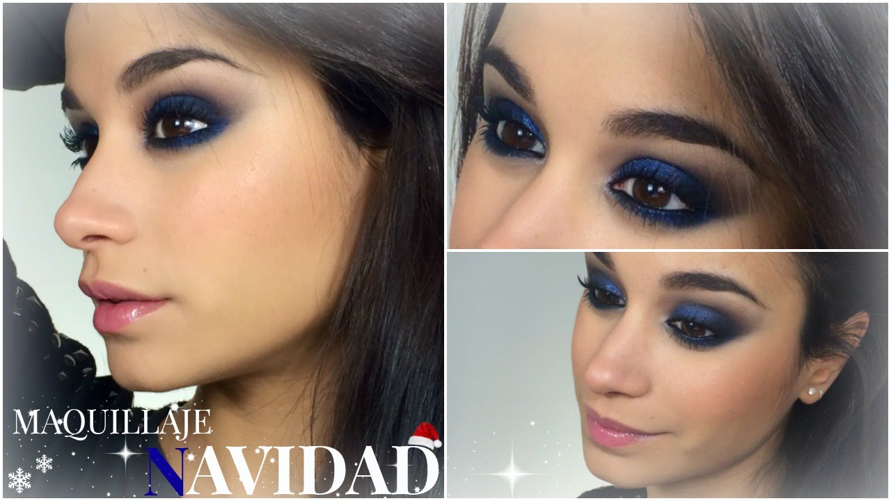 Sombras ojos para vestido azul electrico
