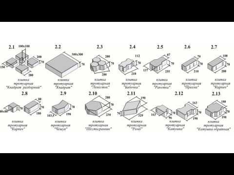 Размеры тротуарной плитки