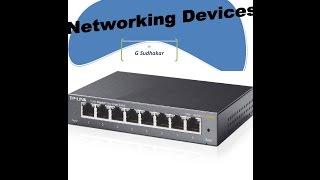 Types of Networking Devices (TELUGU)