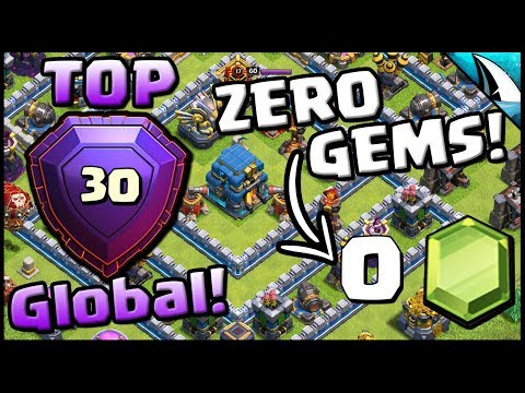 *Global Top 30* with 0 Gems! + Most Common Legends Base | Clash of Clans