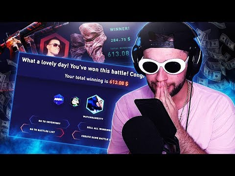 I WON $600 FROM ONE CASE BATTLE!!! (DatDrop)