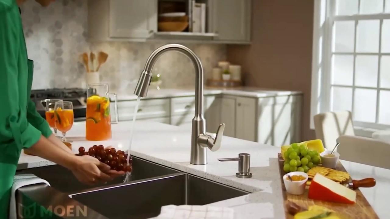 moen edwyn kitchen faucet youtube
