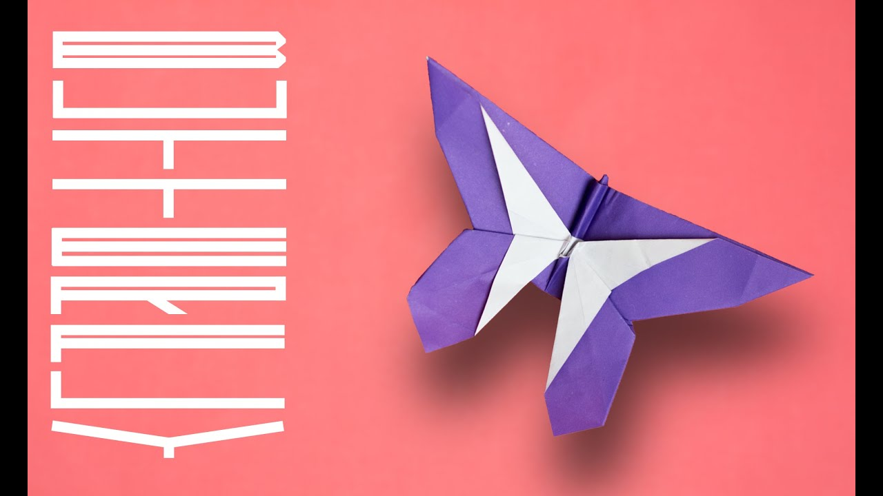 Origami Butterfly. Paper butterfly tutorial. Simple ... - photo#31
