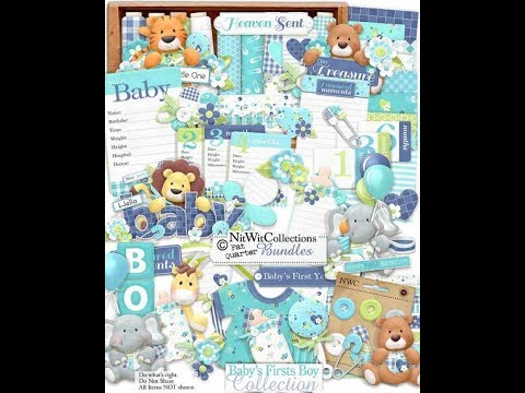 NITWIT COLLECTIONS BABY BOY ALBUM TUTOIRAL  PART 1