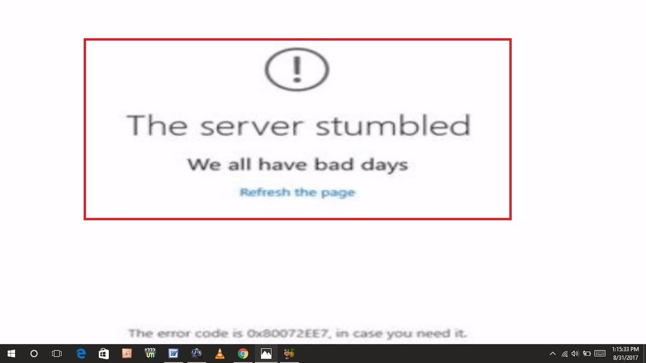 How to Fix the Server Stumbled Error of Windows 10 Store - YouTube