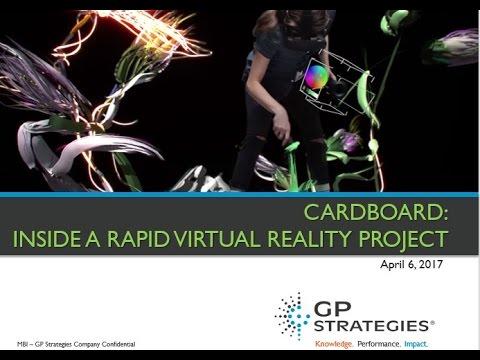 Webinar | CARDBOARD: Inside a Rapid VR Project