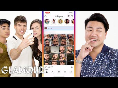 Colleen Ballinger, Bretman Rock and Joey Graceffa Hijack a Stranger's Phone | Glamour thumbnail