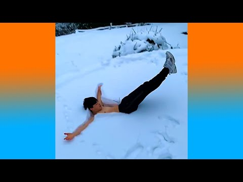 ผู้ชายคนนี้กำลังถูกหิมะดูดลงไปจริงหรือนี่ ท่าพี่อย่างสวย (รวมคลิปความพึงพอใจ)
