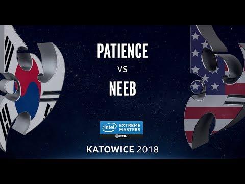 StarCraft II - Patience [P] vs. Neeb [P] - LB Final - B4 - IEM Katowice 2018