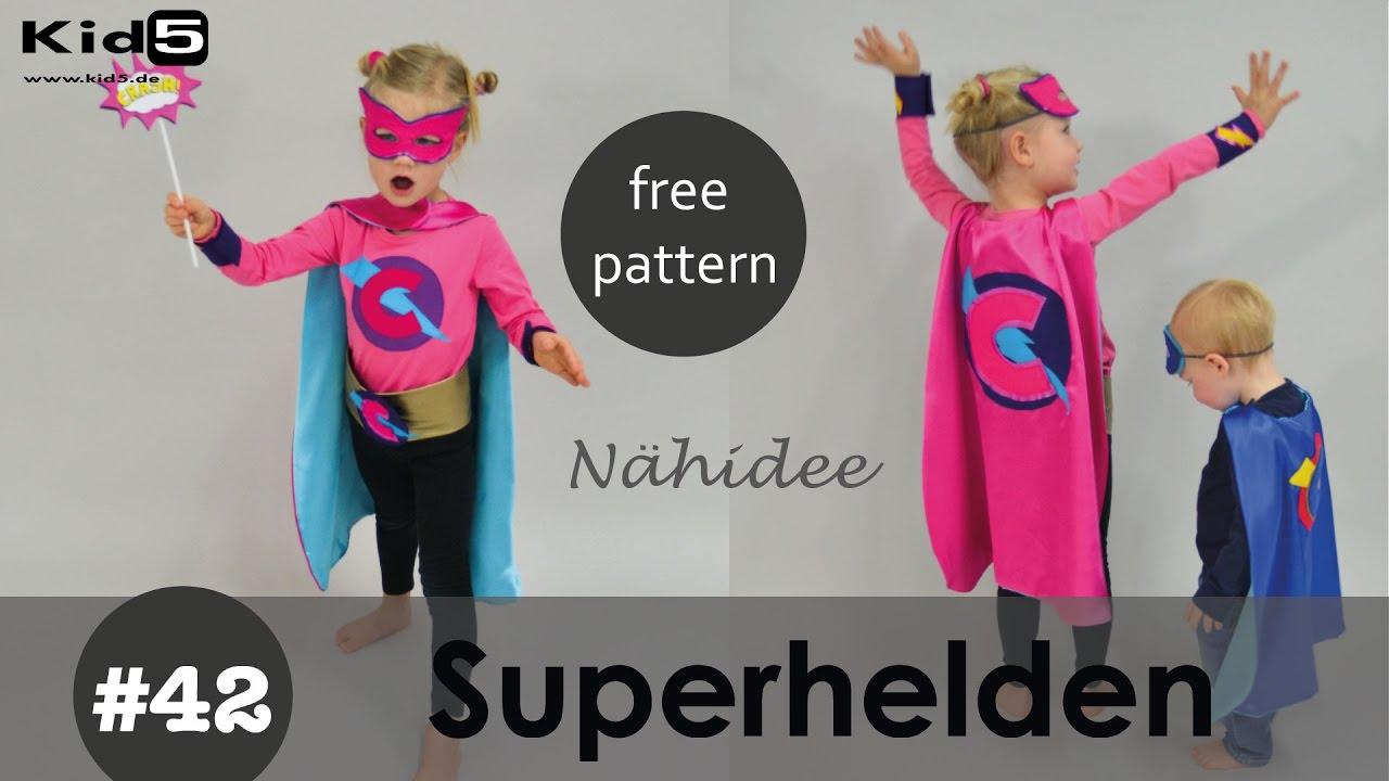 Freebook Superhelden Cape selber nähen - DIY-Näh-Idee - YouTube