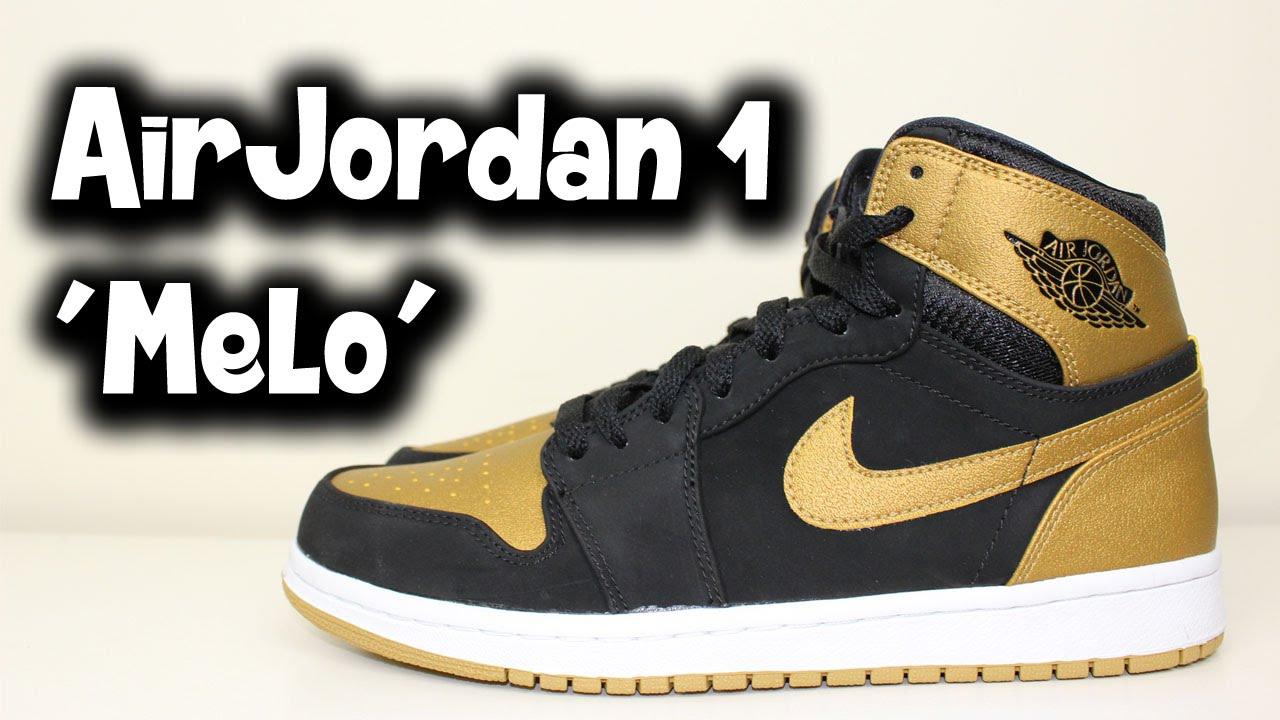 detailing 4fd20 5ebd3 Air Jordan 1 Retro High  Melo  - Review