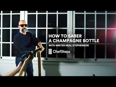 How to Saber a Champagne Bottle with Writer Neal Stephenson