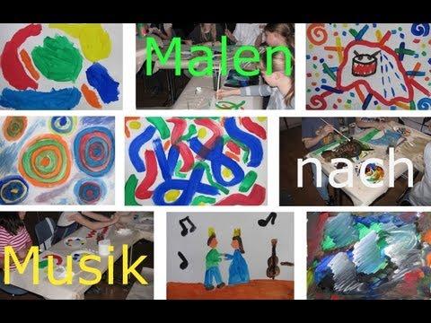 Malen nach Musik, Workshop für Kinder - Musikschule Waldenbuch - Music and art / Paint by music