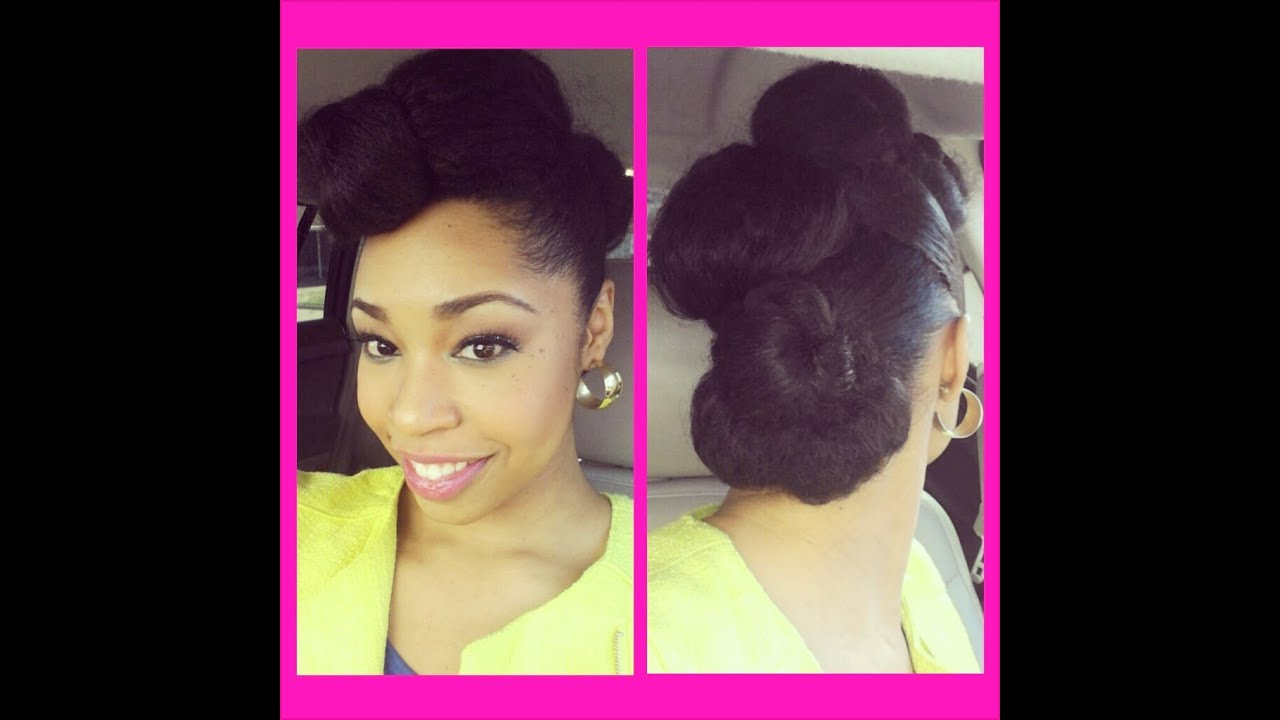 fab natural hair updo tutorial - youtube