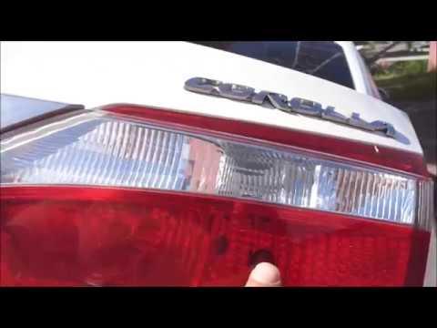 Toyota Corolla замена лампочки заднего габарита