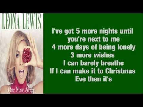 Leona Lewis - One More Sleep (Lyrics)