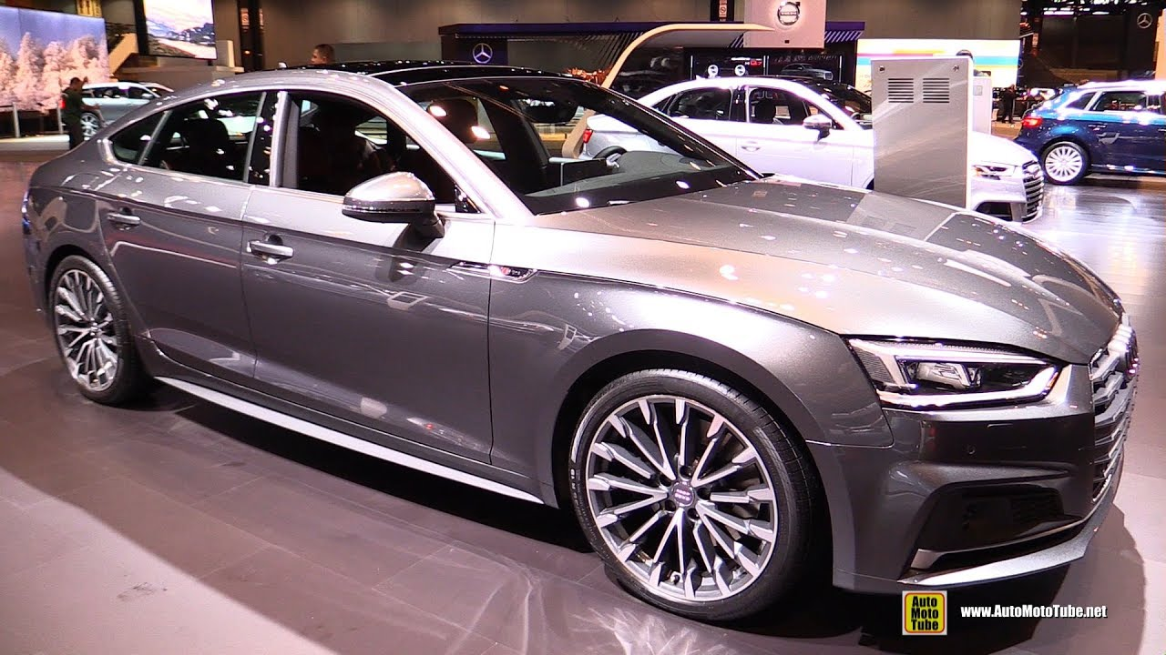 2018 audi a5 sportback exterior and interior walkaround 2017 chicago auto show youtube. Black Bedroom Furniture Sets. Home Design Ideas