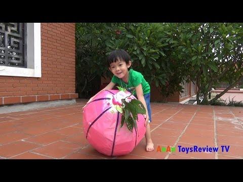 GIANT EGG SURPRISE OPENING - Bóc trứng trái cây thần kỳ khổng lồ - Giant surprise egg ❤ AnAn TV ❤