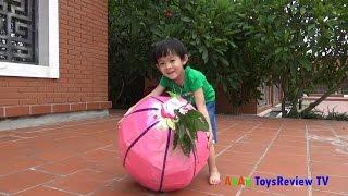 GIANT EGG SURPRISE OPENING - Bóc trứng trái cây thần kỳ khổng lồ ❤ Anan ToysReview TV ❤