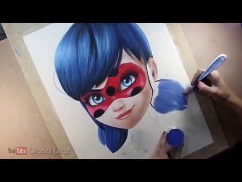 Miraculous Ladybug Como Pintar Youtube