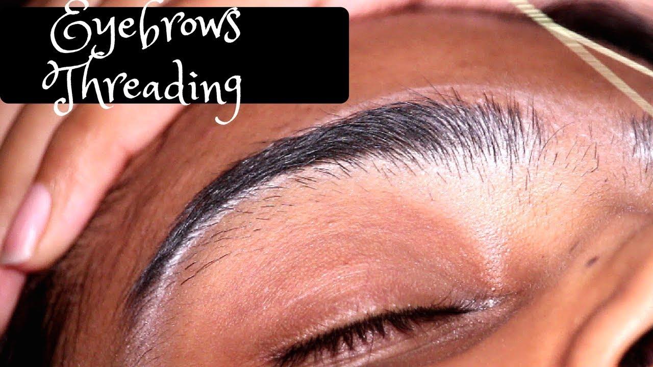 Super Satisfying Eyebrows Threading Youtube