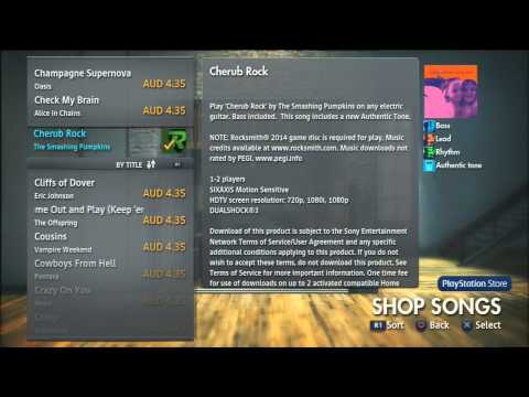 Rocksmith 2014 DLC Songs 1 to F with Sound