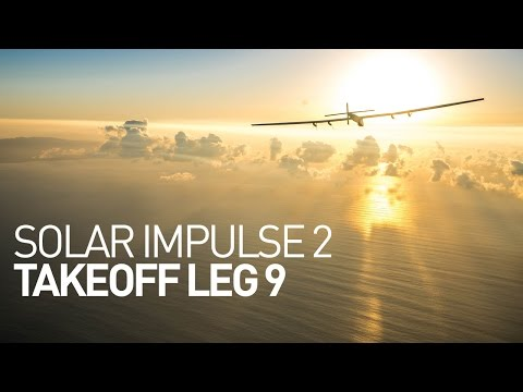 LEG 9 LIVE: Solar Impulse Airplane - Takeoff from Hawaii
