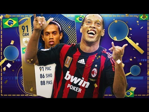 Icon Ronaldinho 91 Review! 5 Million Coins FFS!! Is He Worth It? Fifa 18 Ultimate Team