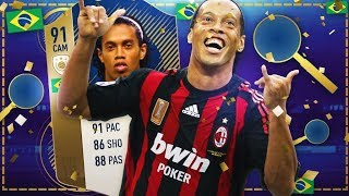 Icon Ronaldinho 91 Review! 5 Million Coins Ffs!! Is He Worth It? Fifa 18 Ultimat