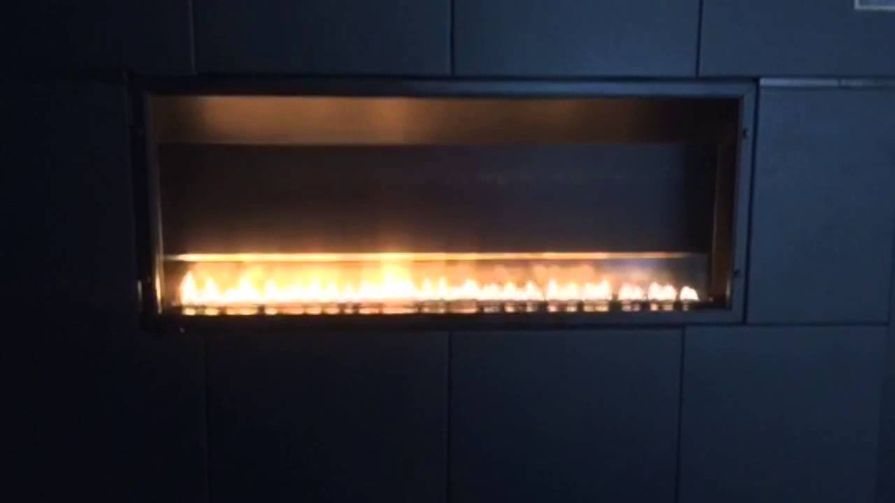 boulevard vfsl30 slimline linear vent free fireplace full recess