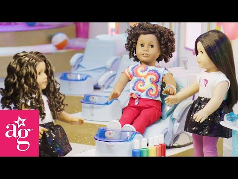 Rainbow Nail Polish At The Doll Salon | Dolled Up With American Girl | American Girl