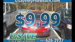 USave Myrtle Beach Rent A Car for $9.99/day