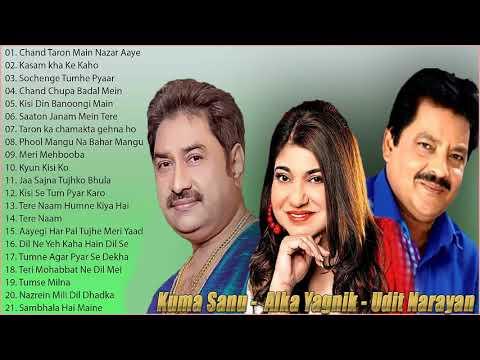 Best Of Udit Narayan, Alka Yagnik, Kumar Sanu Songs // 90's Evergreen Bollywood Songs   Jukebox