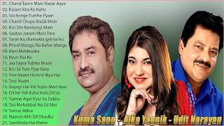 Best Of Udit Narayan, Alka Yagnik, Kumar Sanu Songs // 90's Evergreen Bollywood Songs   Jukebox