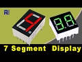 How to use 7 segment display and calculate it's resistors value