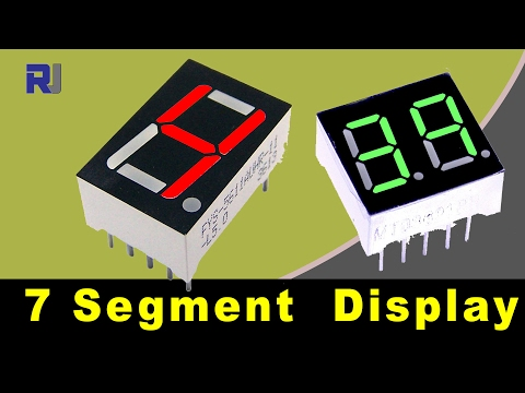 How To Use Led Seven Segment Display And Calculate Its Resistors Value Youtube