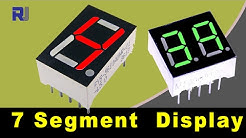 How to use LED seven segment display and calculate its resistors value